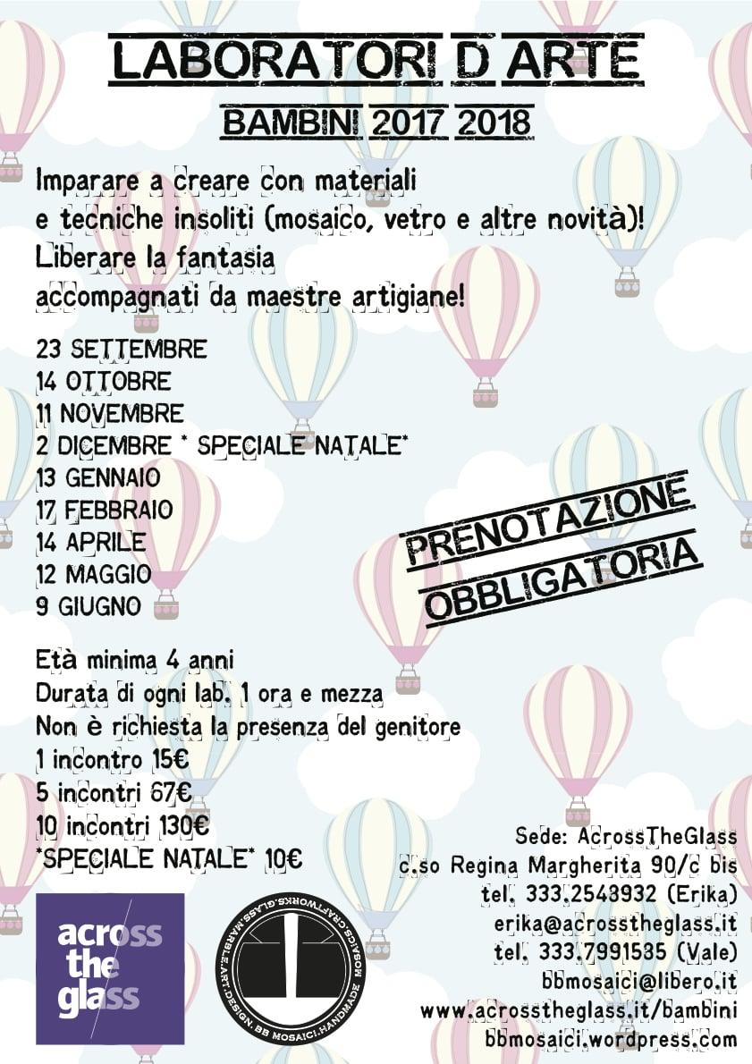 Locandina workshop per ragazzi a Torino